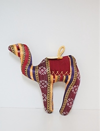 Bedouin-Patterned Camel: Red (Small)
