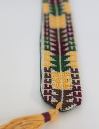Geometric Embroidered Bookmark