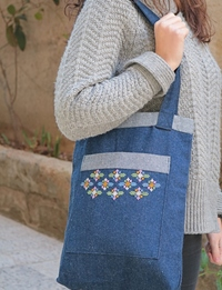 Denim Embroidered Set